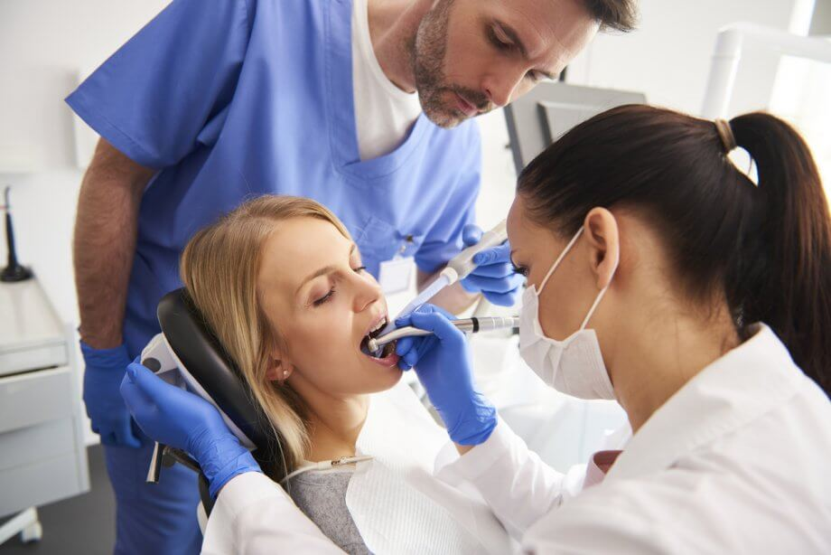 woman getting dental treatment